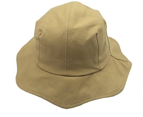 ACVIP Damen Einfarbig Eimer Hut Sonnenschutz Fischerhut Faltbarer Lotus Blattrand(Khaki) -