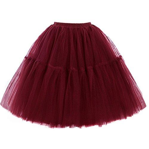 SCFL adulto lujo suave gasa enagua tul falda tutú