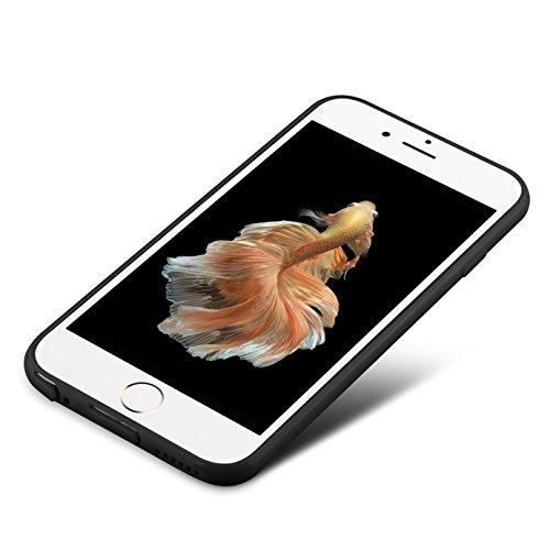 iPhone 6S Hülle, iPhone 6 Hülle, J&D [Leichtgewichtig] [Fallschutz] Stoßfest TPU Slim Hülle für Apple iPhone 6S, Apple iPhone 6 - Schwarz Schwarz