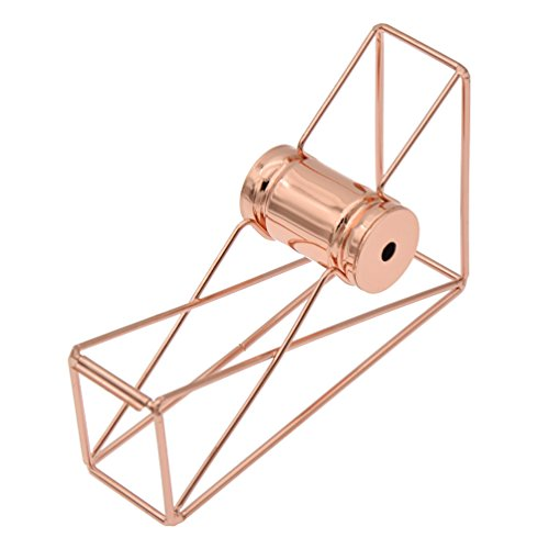 Kesheng Dispensador de Cinta Adhesiva de Metal Tono Oro Rosado con Rollo de Diámetro 25mm