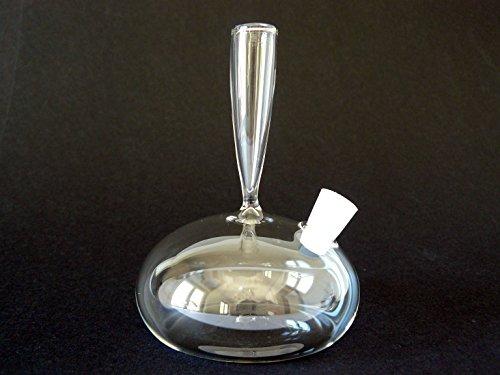 Glasfeder-Halter, Tintenfass mit Halter, Federhalter aus Glas, Lauscha (r)