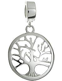 Árbol de la vida Pandora Queenberry colgante plata de ley estilo europeo
