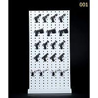 SHI-YM-Racks, / 6 Escala Soporte Extensible Arma de Soporte de Las Armas Estante de exhibición Modelo for 12in Acción Pistola de Juguete de Modelo de visualización (Color : A No Gun Model)