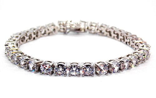 8,25ct in argento Sterling 925, con diamante, bracciale Tennis