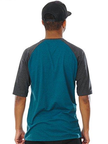Fox T-Shirt Moth Raglan Maui Blau meliert Blau