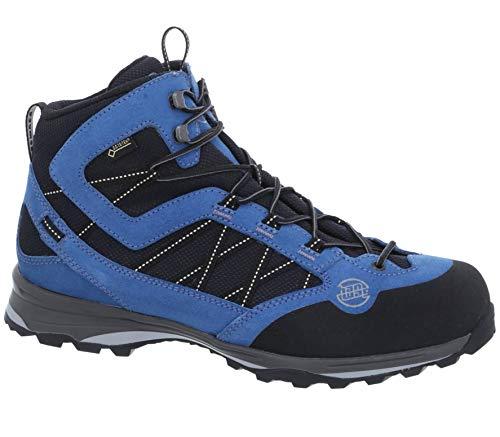 Hanwag - Belorado II Mid GTX Hommes Chaussures de randonnée (Noir/Bleu)