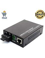 iGud 10/100Mbps Single Mode Dual Fiber Fast Ethernet Media Converter 1310nm SC 20kms