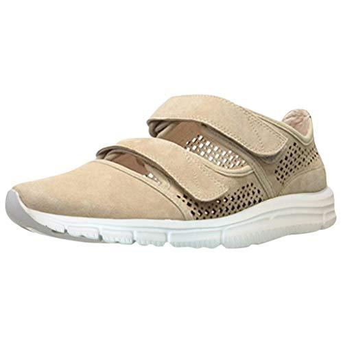 Frauen-Damen-Mode-Retro hohle Knöchel-flache runde Zehen-weiche einzelne Sandelholz-Schuhe (Flache Zehe Stiefel Frauen)