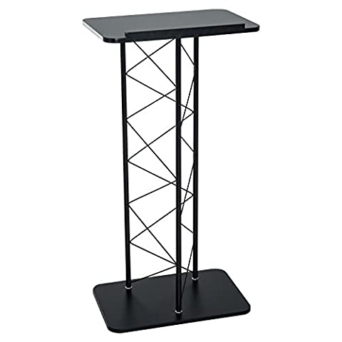 HOMCOM Metal Podium Pulpit Lectern Office Speech Presentation Party Wedding Stands Event Church Desk