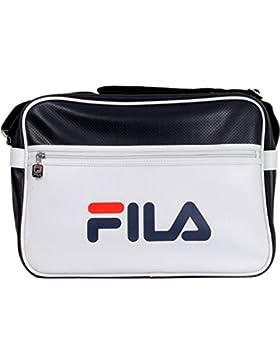 Fila Docena Large XS13ESU027 Messenger Bag Schultertasche Weiß Blau