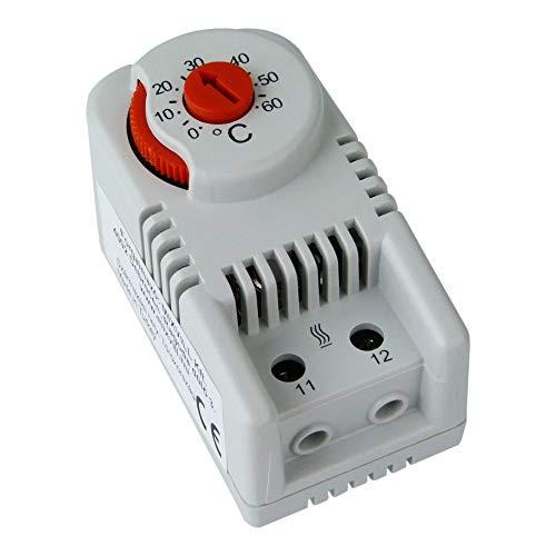 Thermostat f. Hutschiene CO Öffner Rot 0-60°C Schaltschrank Temperatur Regulierung