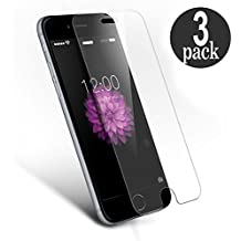 3 Unidades iPhone 6 Plus 6s Plus  Protector de Pantalla, WEOFUN Cristal Templado para iPhone 6 Plus 6s Plus Vidrio Templado Protector [0.25mm/ 9H Dureza/ Alta transparencia]