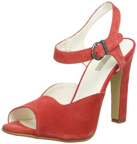 Johannes W. 9339 S, Sandales femme Rouge (Coral)