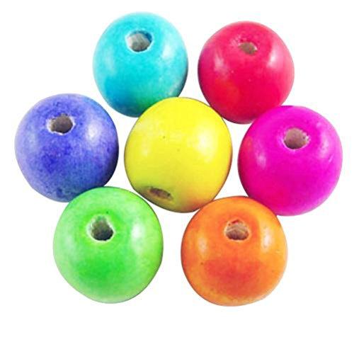 200 Colorful ronde en bois perles boule Spacer Courroie 6 mm 8 mm 10 mm 12 mm 14 mm Médiators, 6