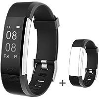 YAMAY Smartwatch Braccialetto Fitness Activity Tracker Smart Watch Android iOS Orologio Cardiofrequenzimetro da Polso Contapassi Calorie Notifiche Sport Donna Uomo Bambini per Samsung Xiaomi Huawei