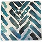 NOVAGO® Tapis de souris motif imprimé néoprène antidérapant 21 x 21 cm (Bleu)