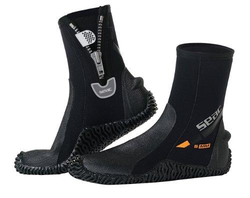 Seac Botas BASIC HD - Botas de buceo, color negro, talla S