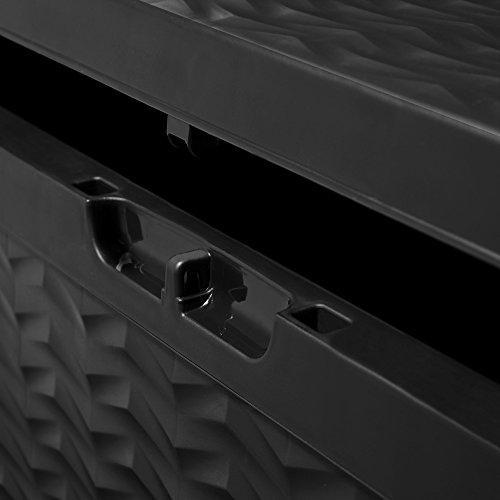 Auflagenbox 4 Rollen 120x45x60 Kissenbox Aufbewahrungsbox Gartenbox Gerätebox Gartentruhe -
