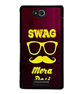 Desi Swag 2D Hard Polycarbonate Designer Back Case Cover for Sony Xperia C :: Sony Xperia C HSPA+ C2305