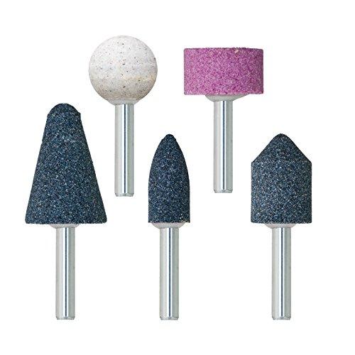 Schleifstein Set 5 tlg Schleifstift für Bohrmaschine Geradeschleifer Körper