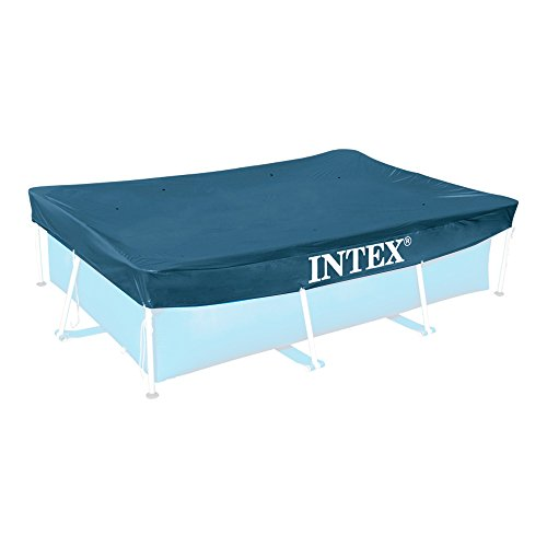 Intex Rectangular Pool Cover - Poolabdeckplane - 300 x 200 cm - Für Rectangular Frame Pool (Aufbau Eines Pool)