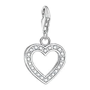 THOMAS SABO Damen Charm-Anhänger Herz 925er Sterlingsilber 0018-051-14