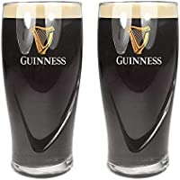Guinness Official Merchandise - Vaso de cerveza (juego de 2)