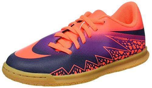 Nike 749911-845, Chaussures de Football en Salle Garçon Multicolore (Total Crimson/obsidian-vivid Purple)