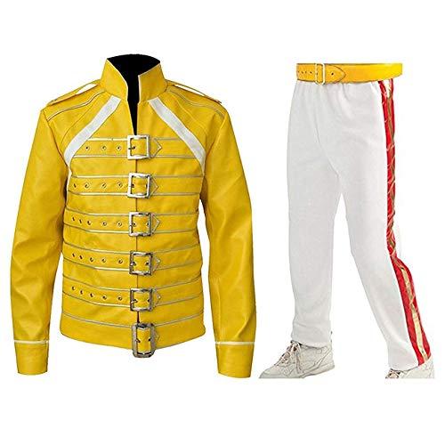 Fashion_First Herren Jacke Gelb Freddie Mercury Jacket Gr. S, Freddie Mercury - Freddie Mercury Gelbe Jacke Kostüm