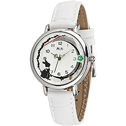Cute Cartoon Rabbit Luxury Leather Strap Quartz Women Girl Wrist Watch,White