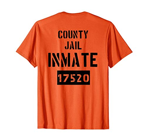 County Jail Inmate Gefangene Knast Halloween Kostüm - Gefangener Kostüm Shirt