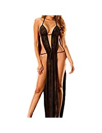 Women Lingerie, BBring Sleepwear Babydoll Underwear Long Dress Blackless Nightwear Pajamas