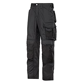 Snickers 33110404092 Craftsmen Trousers CoolTwill Size 92 in Black