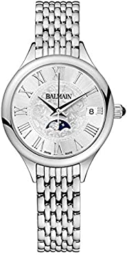 Balmain Women's Silver Dial Stainless Steel Band Watch - B49113312, Analog Dis