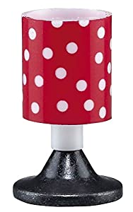 Kahlert 10.483 luz - Muñeca Mini Accesorios - Base de la Mesa lámpara de Metal, Pantalla de plástico