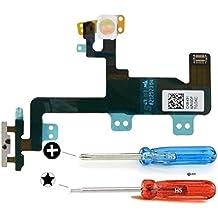 Repuesto Botón de encendido y apagado (ON/OFF) del iPhone 6 Plus. Incluye cable FLEX (flexible) 2x destornilladores y adhesivos para una fácil instalación. MMOBIEL