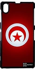 Coque Sony Xperia Z1 – Drapeau Tunisie - ref 141