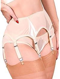What Katie Did Suspender Belt 6 Strap Peach Satin Harlow