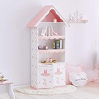 Fantasy Fields TD-12717A Swan Lake Ballerina Girls Bookcase Book Shelf , White/Pink