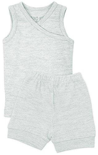 Merino Kids Shortie Pyjama Set, Turtle Dove, For Kids 4-5 Years