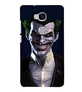 Printvisa Premium Back Cover Green Hair Funny Dracula Design For Huawei Honor 5X:: Huawei Honor X5::Huawei GR5