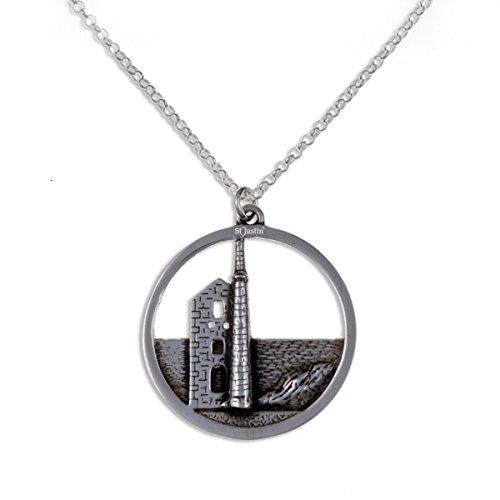 De la mina de ocio Poldark Cornish Tin sommelier colgante collar de plata esterlina