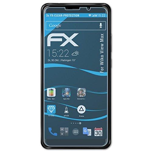 atFolix Schutzfolie kompatibel mit Wiko View Max Folie, ultraklare FX Bildschirmschutzfolie (3X)