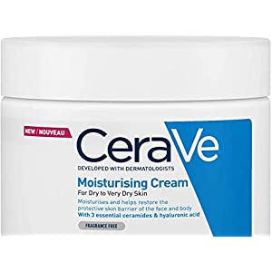 CeraVe Moisturising Cream   454g/16oz   Daily Face, Body & Hand Moisturiser for Instant & Long-Lasting Hydration