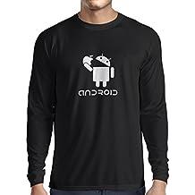N4067L Camiseta de manga larga Android gift