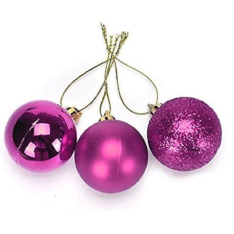 Malloom® 24 pc Natale Ornamenti Palla Festival Partito Albero Natale Decorazione