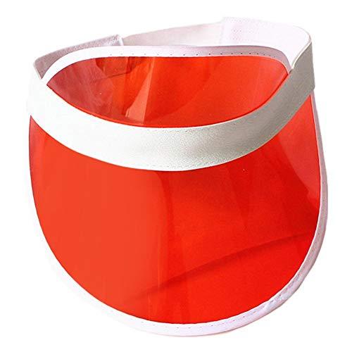 Maliyaw Unisex Outdoor Transparenter Kunststoff UV-Schutz Sonnenschutz PVC Visierkappe Sonnenhüte