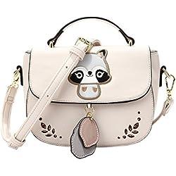 Anyer Personalidad Lovely Lady Bolsas Trend Trend Bolso Crossbody Panda Embroidery Handbag