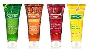 Vaadi Herbals Assorted Herbal Face Wash, 60ml (Pack of 4)