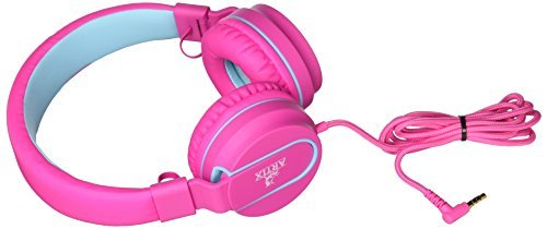 Artix cuffie pieghevoli con microfono | nrgsound cuffie compatte, perfette per bambini/ragazzi/adulti - rosa/azzurro